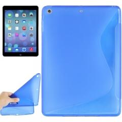 Чехол силиконовый Волна для iPad Air синий