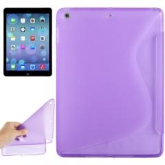Чехол силиконовый Волна для iPad Air фиолетовый
