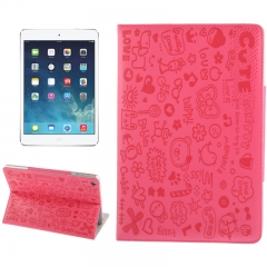 Чехол Зверюшки для iPad Air малиновый