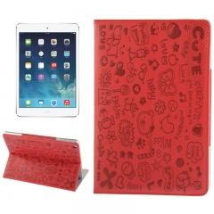 Чехол Зверюшки для iPad Air красный