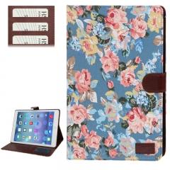 Чехол Цветочки для iPad 5 Air синий