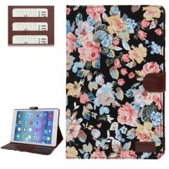 Чехол Цветочки для iPad 5 Air черный