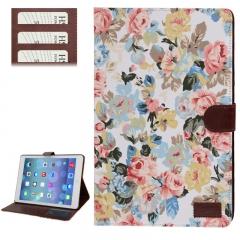 Чехол Цветочки для iPad 5 Air белый