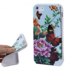 Чехол силиконовый цветочки для iPhone 5