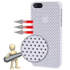 Чехол перфорированный для iPhone 5S белый