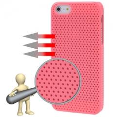 Чехол перфорированный для iPhone 5S розовый