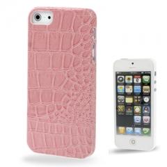 Кожаный чехол - накладка для iPhone 5 розовый