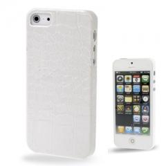 Кожаный чехол - накладка для iPhone 5S белый