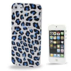 Чехол Леопард для iPhone 5S голубой