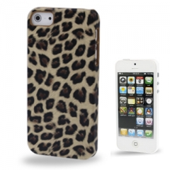 Чехол Леопард для iPhone 5S бежевый
