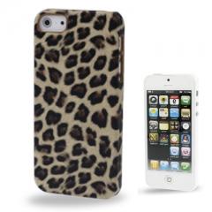 Чехол Леопард для iPhone 5 бежевый
