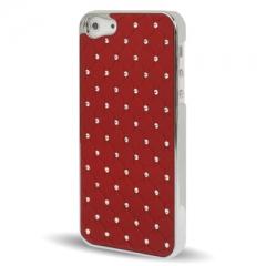 Чехол со стразами для iPhone 5 красный