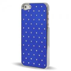 Чехол со стразами для iPhone 5S синий
