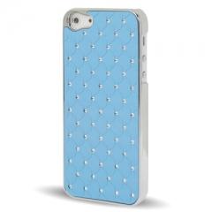 Чехол со стразами для iPhone 5S голубой