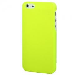 Пластиковый чехол для iPhone 5 кислотный желтый