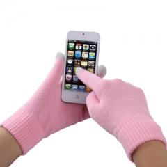 Перчатки для iPhone 5S бледно розовые