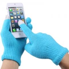 Перчатки для iPhone 4S голубые