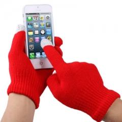 Перчатки для iPhone 5 красные