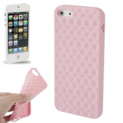 Чехол силиконовый для iPhone 5S матовый лиловый