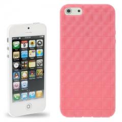 Чехол силиконовый для iPhone 5S матовый малиновый