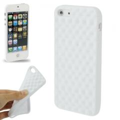 Чехол силиконовый для iPhone 5S матовый белый