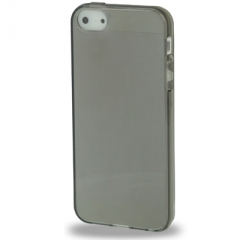 Силиконовый чехол для iPhone 5S глянцевый черный