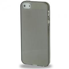 Силиконовый чехол для iPhone 5 глянцевый черный