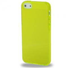 Силиконовый чехол для iPhone 5 желтый