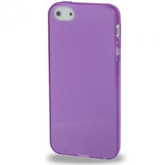 Силиконовый чехол для iPhone 5S фиолетовый глянцевый