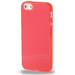 Силиконовый чехол для iPhone 5S глянцевый красный