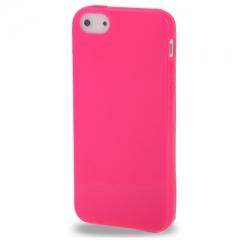 Чехол силиконовый для iPhone 5S глянцевый розовый