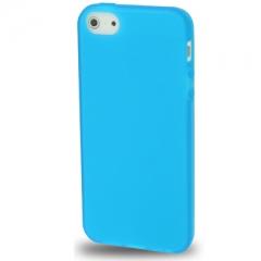 Чехол силиконовый для iPhone 5S матовый синий