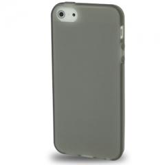 Силиконовый чехол для iPhone 5 черный матовый