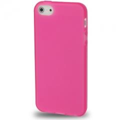 Чехол силиконовый для iPhone 5 малиновый матовый