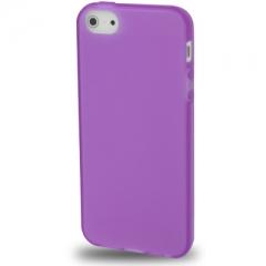 Силиконовый чехол для iPhone 5 фиолетовый матовый