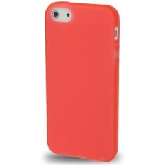 Силиконовый чехол для iPhone 5 красный матовый