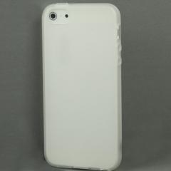 Силиконовый чехол для iPhone 5S белый матовый