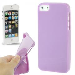 Чехол силиконовый для iPhone 5 лиловый