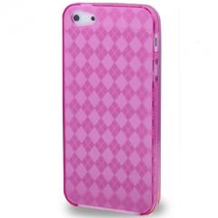 Чехол силиконовый Diamond Print для iPhone 5 малиновый