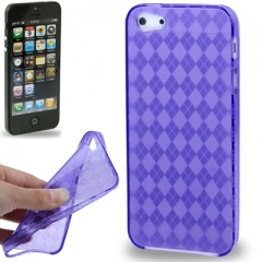 Чехол силиконовый Diamond Print для iPhone 5 синий