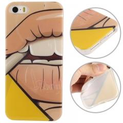 Чехол силиконовый Girl для iPhone 5