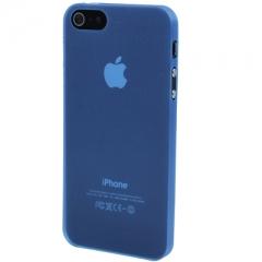Ультратонкий чехол для iPhone 5S синий