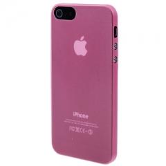 Ультратонкий чехол для iPhone 5S розовый