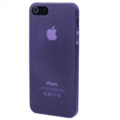 Ультратонкий чехол для iPhone 5S фиолетовый