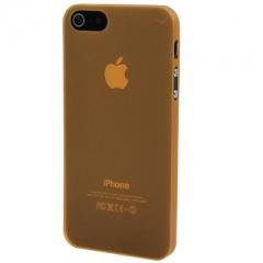Ультратонкий чехол для iPhone 5 оранжевый