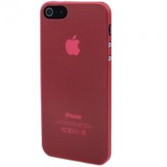 Ультратонкий чехол для iPhone 5S красный