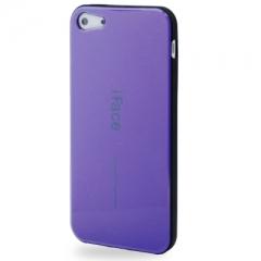 Чехол силиконовый iFace для iPhone 5S  фиолетовый