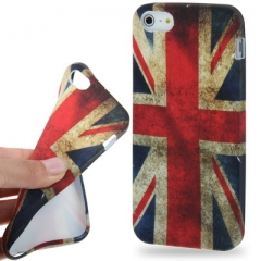 Силиконовый чехол для iPhone 5 Английский флаг