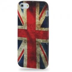 Чехол силиконовый для iPhone 5S Британский Флаг