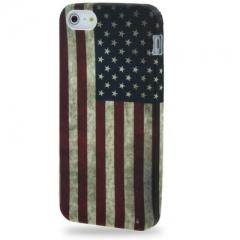 Силиконовый чехол для iPhone 5 Американский флаг